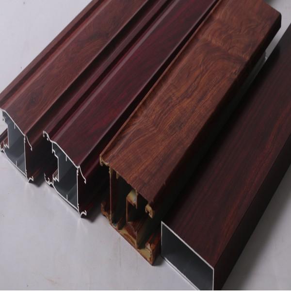 Impresión de madera del grano revestido de polvo de aluminio de perfil